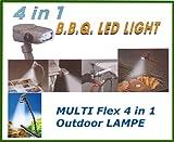 4in1 MULTIFLEX Outdoor Taschenlampe Grilllampe Stirnlampe Fahrradlicht Leselampe