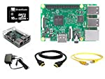 Raspberry Pi 3 Starter Kit with a high quality Raspberry Pi 3 and Black Protective Case as well as the recommended. Raspberry Pi 16 GB Class 10 MicroSD Card pre-loaded with NOOBS. The included 2A Micro USB power supply is specially designed and teste...
