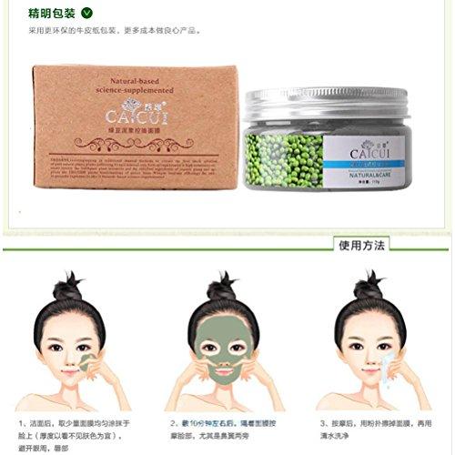 Rcool Auszug Mung Bohnen Maske Mung Bohnen Schlamm Mineralöl Kontrolle Maske (Ziel Womens Schaum)