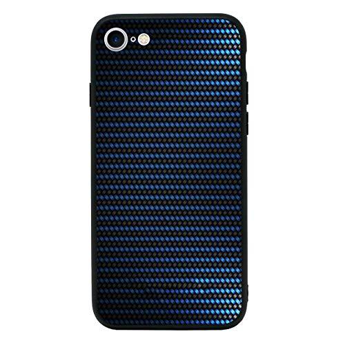I-CHOOSE LIMITED Kohlenstoff-Faser Gehärtetes Glas Zurück Hülle Kompatibel mit iPhone 7 -Telefon Schützende Stoßstangen Hülle für 4,7 Zoll Bildschirm