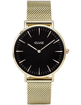 Cluse Armbanduhr La Bohème Mesh Gold/Black CL18110