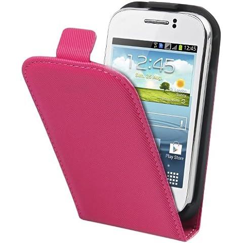 Muvit MUSLI0409 - Funda slim + protector de pantalla para Samsung Galaxy Young S6310, rosa