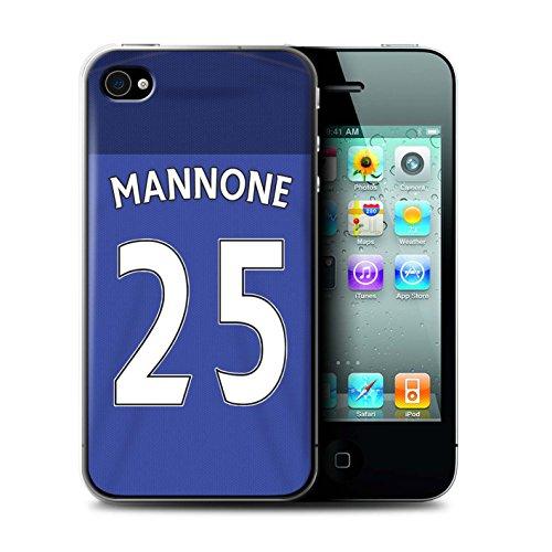 Offiziell Sunderland AFC Hülle / Case für Apple iPhone 4/4S / Larsson Muster / SAFC Trikot Home 15/16 Kollektion Mannone
