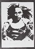 moreno-mata Supergirl Handmade Street Art - Artwork - Poster