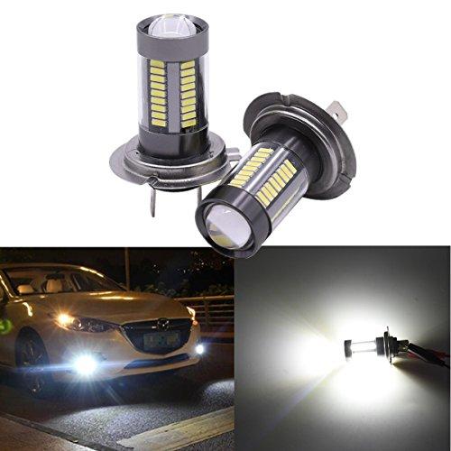 Preisvergleich Produktbild FEZZ 1000LM Extrem helle Auto LED Nebelscheinwerfer DRL Lampe H7 12V-24V DC 33W Weiß 2 Stücke