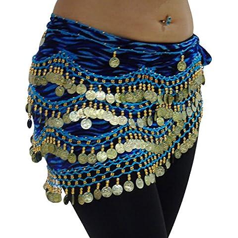 ZEBRA danza del vientre bufanda de la cadera de la moneda correa del abrigo del grano y Reino Unido TAMAÑO 12-24 M de tamaño extra