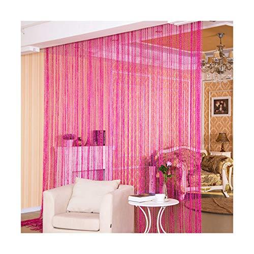 FLY-plant Line Fadenvorhänge Tür Fenster Paneel Vorhang Divider Garn Fadenvorhang Streifen Quaste Home Decor, Synthetisch, Navy Blue 100x200cm, Pull Pleated Tape
