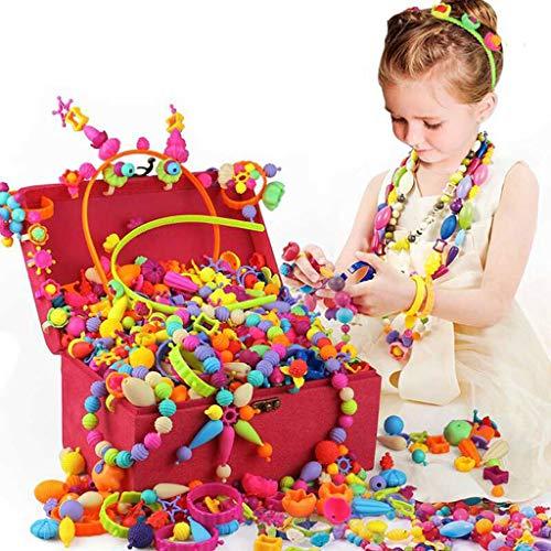 Lernspielzeug ⚡ YZWJ ABS Pop Perlen Set, Kinder Pop Perlen Schmuckherstellung Set 3-10 Jahre alt 04.18 (Farbe : 110 Grain Jewelry)
