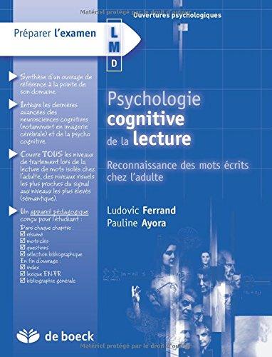 Psychologie cognitive de la lecture : Reconnaissance des mots écrits chez l'adulte par Ludovic Ferrand, Pauline Ayora