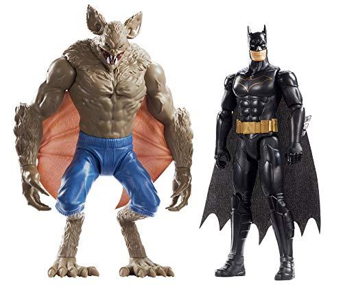 Mattel FVM63 DC Batman und Man-Bat 30 cm Figuren 2er-Pack, Spielzeug Actionfiguren ab 3 Jahren