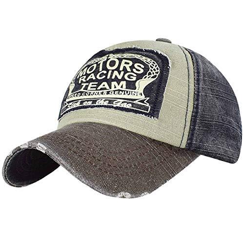 Imagen de tuopuda® unisex  de béisbol algodón mezclado motocicleta  molienda borde haga viejo sombrero café  alternativa