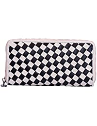 Charu Boutique Black & White Checkered Pouch/Wallet For Women's & Girl's