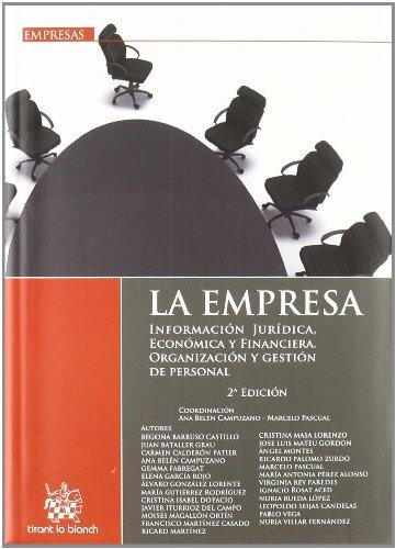 La empresa . Información jurídica, económica y financiera . Organización y gestión de personal
