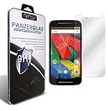 nandu I Motorola Moto G2 Echtglas I 2D Cover Glas I Tempered Glass 9H Härte I Schutzglas I Hartglas I Displayschutzglas