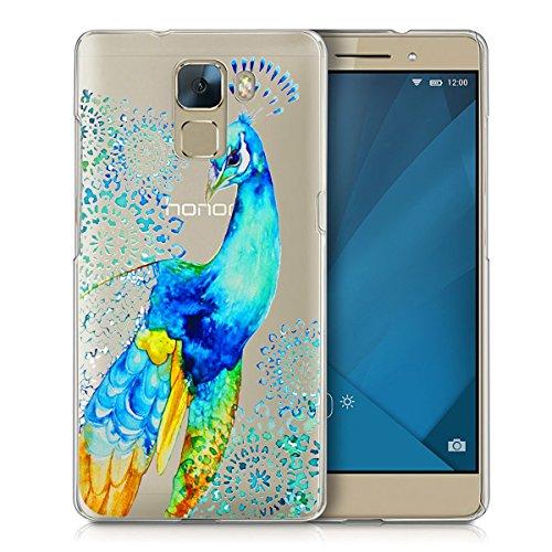 Preisvergleich Produktbild Huawei Honor 7 Handy Tasche, FoneExpert® Ultra dünn TPU Gel Hülle Transparent Silikon Case Cover Hüllen Schutzhülle für Huawei Honor 7 (Color 5)