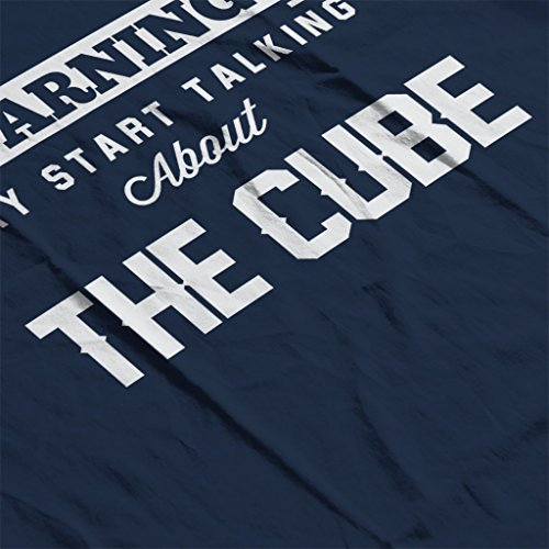 Warning May Start Talking About The Cube Women's Sweatshirt Navy blue