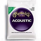 Martin Gitarrensaiten für Akustikgitarren (92/8, Phosphor-Bronze-Umwicklung, Stärke Extra Light 0.010-0.047)