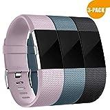 Zekapu pour Fitbit Charge 2 Bracelet, Charge 2 Sangle réglable Sport Remplacement...