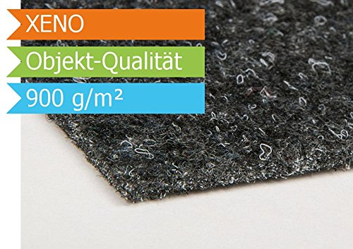 Nadelfilz Nadelvlies XENO - Anthrazit - 2,00m x 3,00m | Premium Objekt-Qualität | 3 Farben | B1-Zertifikat | GUT-Siegel | 2,00m Breit | 900 g/m² | Teppichboden | Bodenbelag | Büro | strapazierfähige Auslegware