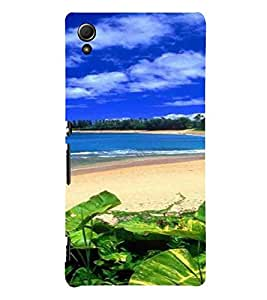 Sea Shore, Blue, Cloud , Beach, Printed Designer Back Case Cover for Sony Xperia Z3+ :: Sony Xperia Z3 Plus :: Sony Xperia Z3+ dual :: Sony Xperia Z3 Plus E6533 E6553 :: Sony Xperia Z4