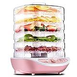 5 Behälter-Gemüse-Entwässerungs-Haus-Nahrungsmittelerhalter 245W Justierbare Temperatur Mit Automatisch Stoppen Digitalanzeigen-Nahrungsmitteltrockner-Maschine