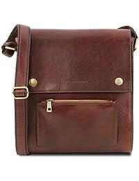 Tuscany Leather - San Marino - Sac de voyage en cuir avec poches frontales Noir - TL10180/2