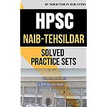 HPSC Naib Tehsildar Solved Practice Sets: Important book for HPSC Naib Tehsildar all other hpsc/hssc exams in haryana (Hindi Edition)