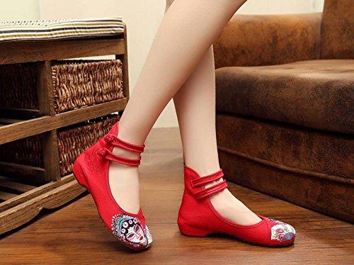ZLL Peking Opera Gestickte Schuhe, Sehnensohle, ethnischer Stil, Femaleshoes, Mode, bequeme Segeltuchschuhe , light blue , 41