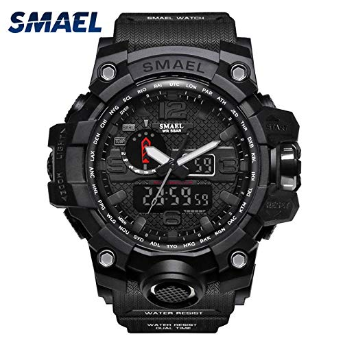 Digitale Sportuhr, Nourich wasserdichte Digital Armbanduhren Funktionale Outdoor Uhr für Männer,Uhren Elektronische Watches Wrist Watch Herren Sportuhren Geschenk (B)