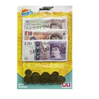thehomegallery Kids Fake Play Money Pound Coins & Notes Educational Party Bag Fillers Playing (1 Pack)