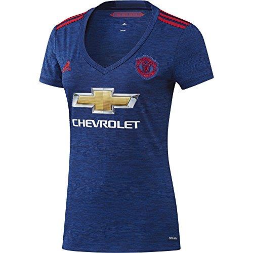 Adidas JSY W Camiseta 2ª Equipación Manchester United 2015/16, Mujer, Azul/Rojo, XS