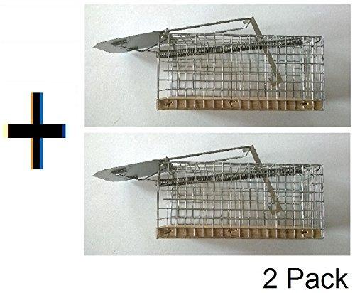 Lot de 2 pièges à souris réutilisables en métal