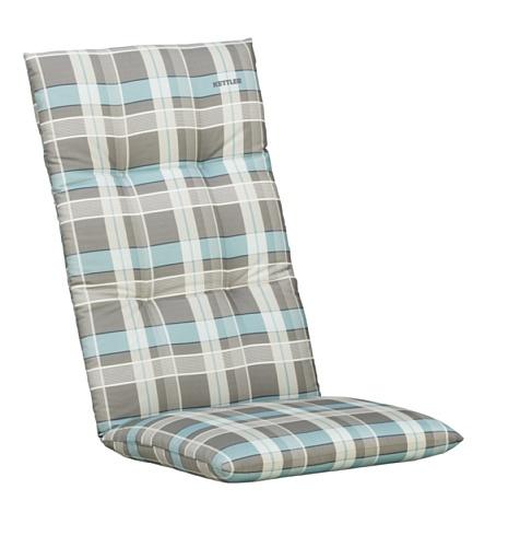 Kettler Sesselauflage für Hochlehner – komfortable Stuhlauflage mit Kreisheftung und Karomuster...