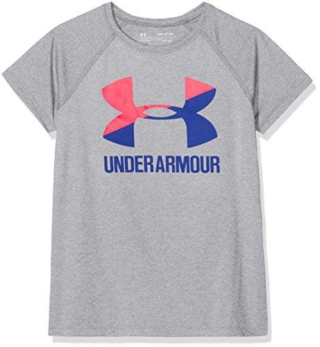 Under Armour Girls' Ua Solid Big Logo T Short-Sleeve Shirt