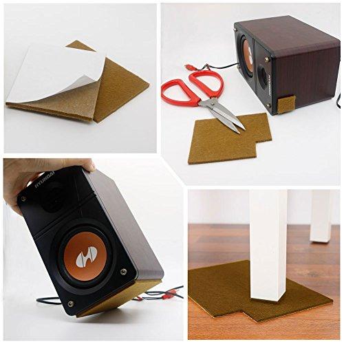 Flerise 4 feltrini quadrati marroni per pavimenti mobili protezione per gambe del tavolo - Feltrini mobili ...