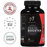 Testosterona. Potenciador de testosterona natural. Aumenta fuerza, masa muscular, y rendimiento deportivo. 90 cápsulas vegetales. Vegano y sin gluten.