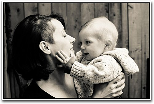 Athahdesigns Wall Poster Cute Baby With Mother  available at amazon for Rs.199