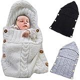 Colorful nouveau-né bébé Nid d'ange, oenbopo pour bébé en laine pour bébé Sac de couchage couverture Swaddle sommeil Sac pour Poussette pour bébé 0–12Mois