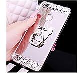 Ukayfe Paillette Coque en Silicone Etui de Protection Brillante Glitter Ultra Slim Housse Souple Gel TPU Bumper Motif Coque Case Cover Skin Couverture Etui pour Huawei P8 Lite 2017(Argent)