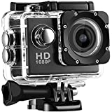 Alonzo 1080p HD Sports Action Camera Compatible with Android and iOS Devices