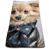Osmykqe The Pet Pomeranian Cotton Bath Towels for Hotel-Spa-Pool-Gym-Bathroom - Super Soft Absorbent Ringspun Towels...