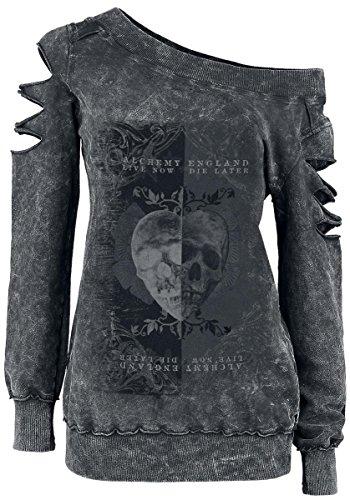 Alchemy England Skull Heart Felpa donna grigio M