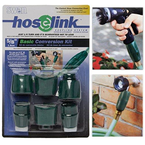 Swan 6-teiliges Garten Wasser Schlauch Koppler Kit hoselink Kunststoff Schnelle Montage Connector, 5/20,3cm China Swan