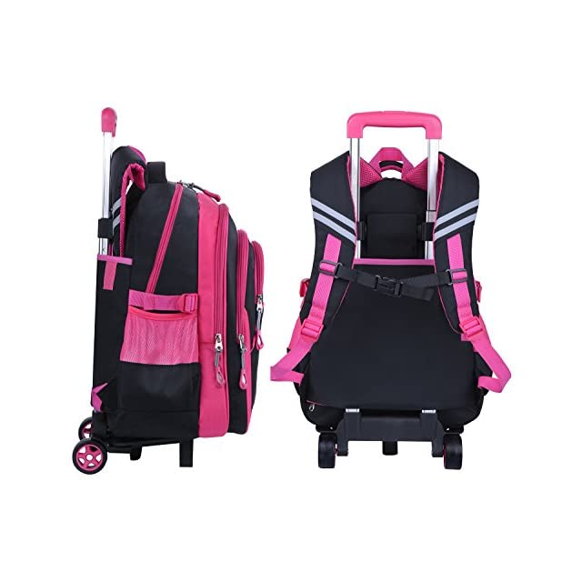 a5c61e6a755021 ... Coofit Cartable a roulette fille en Oxford Sac a dos college fille  Cartable fille college scolaire