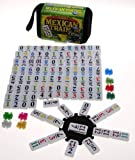 Mexican Train Double 12 Dominoes Travel Size with Colored Numbers