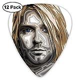 Kurt Cobain Celluloid Guitar Picks Plectrums (12 Pack) pour guitare électrique, guitare acoustique, mandoline et basse de guitare