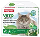 Beaphar - VETOpure, pipettes répulsives antiparasitaires - chat - 3 pipettes