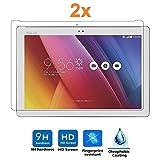 Pack 2x Pellicola salvaschermo per ASUS ZENPAD 10'/10.1', vetro temperato, di qualità Premium Tablet, Elettronica Rey®