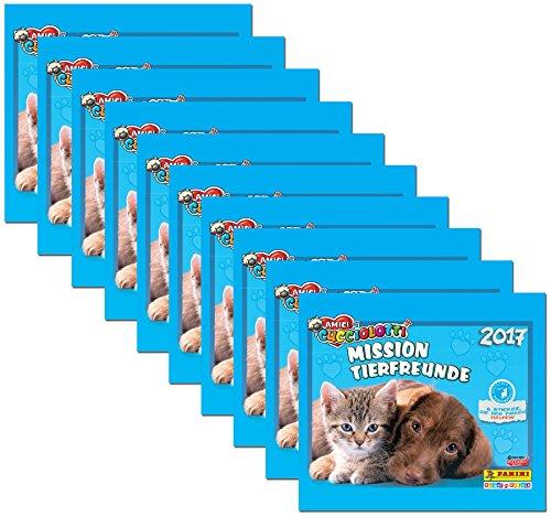 Panini - Amici Cucciolotti Mission Tierfreunde 2017 - Sammelsticker 10 Booster Packungen 50 Sticker - Deutsche Ausgabe - Mission 50