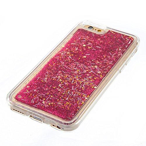 Cover iPhone 6s Custodia iphone 6 Silicone Sabbie Mobili Leton Morbido TPU Gel Liquido Fluttuante Case per Apple iPhone 6s / 6 (4.7 pollici) Ultra Sottile Flessibile Satinato Gomma Caso Anti Graffio A Rosso